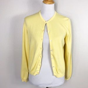 Lilly Pulitzer Yellow Cardigan Sweater
